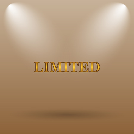 gold rush: Limited icon. Internet button on brown background.