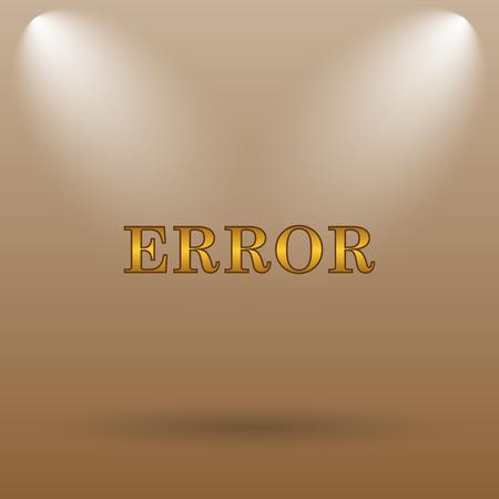 top menu: error icon. Internet button on brown background.