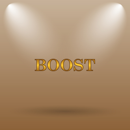 boost: Boost icon. Internet button on brown background.