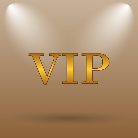 is magnificent: VIP icon. Internet button on brown background.