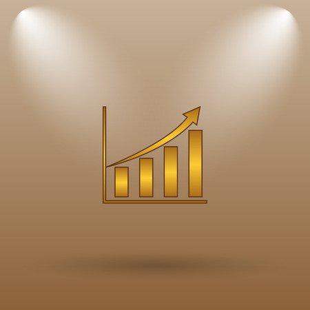 inventor: Chart icon. Internet button on brown background. Stock Photo