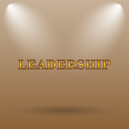 superintendence: Leadership icon. Internet button on brown background.