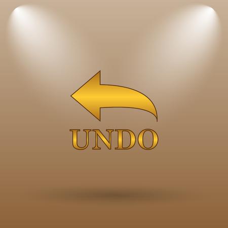 undo: Undo icon. Internet button on brown background.