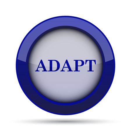 adapt: Adapt icon. Internet button on white background.