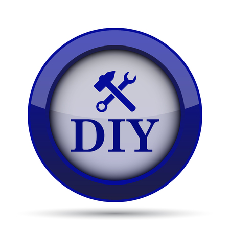 yourself: DIY icon. Internet button on white background.