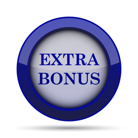 extra cash: Extra bonus icon. Internet button on white background.