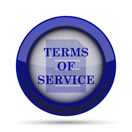 term and conditions: Terms of service icon. Internet button on white background.