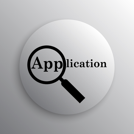 job offers: Application icon. Internet button on white background.