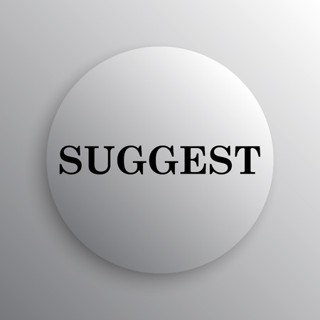suggest: Suggest icon. Internet button on white background.