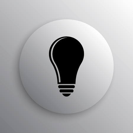 idea icon: Light bulb - idea icon. Internet button on white background.