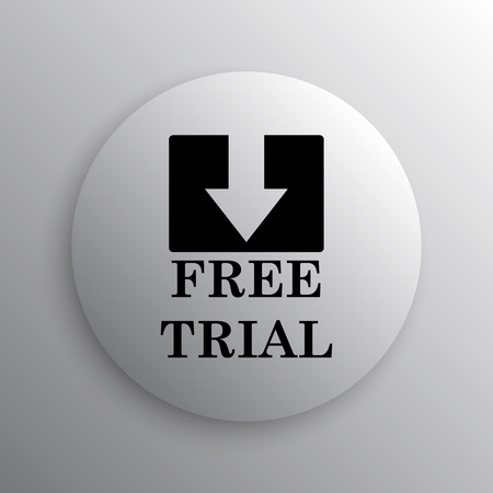 gratuity: Free trial icon. Internet button on white background. Stock Photo