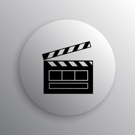 directors cut: Movie icon. Internet button on white background.