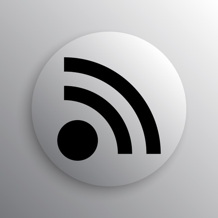 rss sign: Rss sign icon. Internet button on white background. Stock Photo