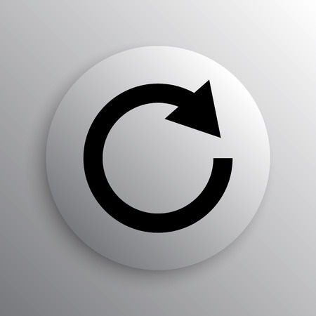 restoring: Reload one arrow icon. Internet button on white background.
