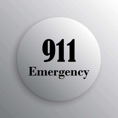 bad service: 911 Emergency icon. Internet button on white background.