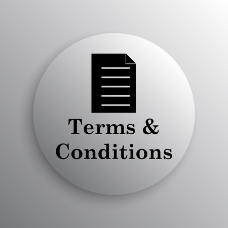 terms: Terms and conditions icon. Internet button on white background.