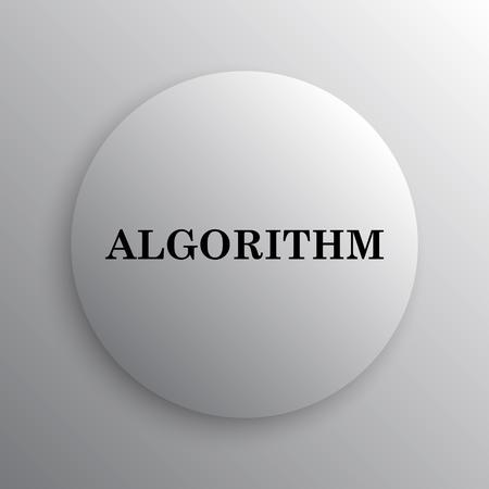 algorithm: Algorithm icon. Internet button on white background.