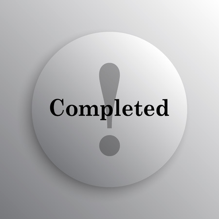 canceled: Completed icon. Internet button on white background.