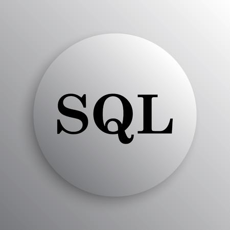 sql: SQL icon. Internet button on white background.