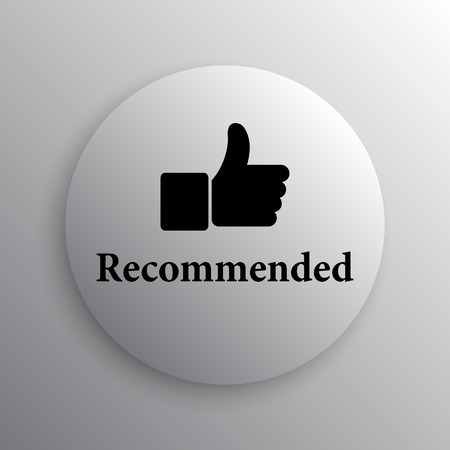 selected: Recommended icon. Internet button on white background. Stock Photo