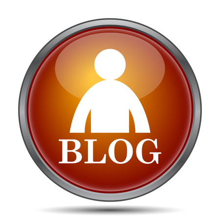 seeking: Blog icon. Internet button on white background.