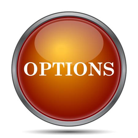 preferences: Options icon. Internet button on white background. Stock Photo