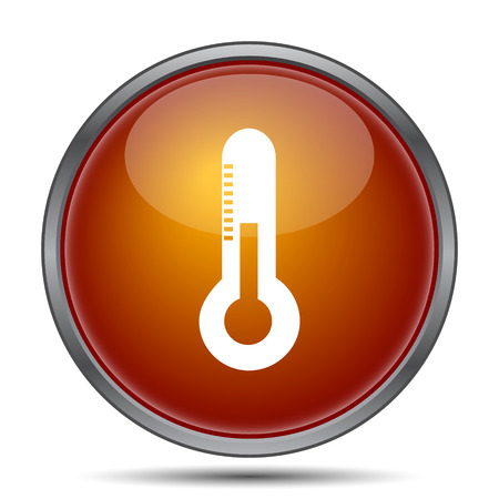 growth hot: Thermometer icon. Internet button on white background.