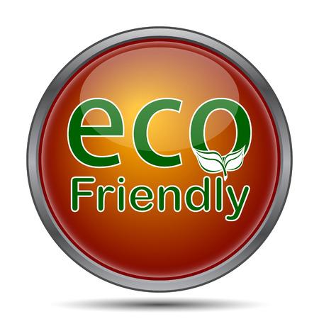 eco friendly icon: Eco Friendly icon. Internet button on white background.