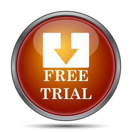 grant: Free trial icon. Internet button on white background. Stock Photo