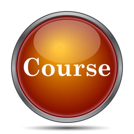 course development: Course icon. Internet button on white background.
