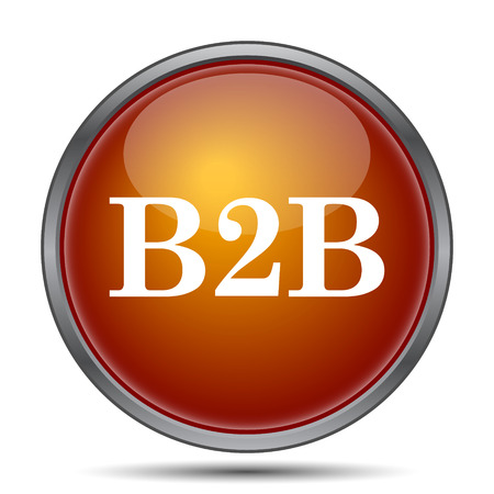b2b: B2B icon. Internet button on white background. Foto de archivo