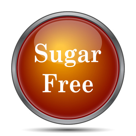 white sugar: Sugar free icon. Internet button on white background.