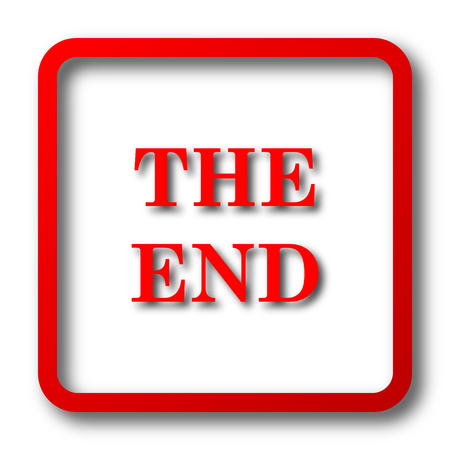 close out: The End icon. Internet button on white background. Stock Photo