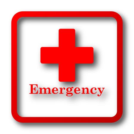 Icono de emergencia. botón de internet sobre fondo blanco.