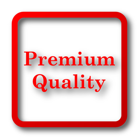 first rate: Premium quality icon. Internet button on white background. Stock Photo