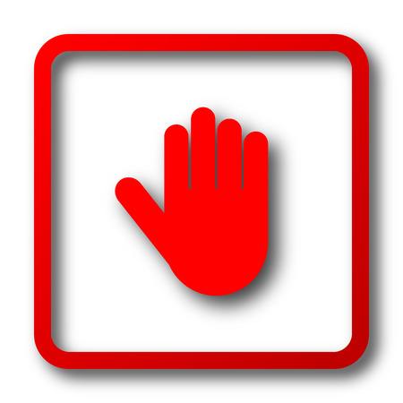 stop icon: Stop icon. Internet button on white background.