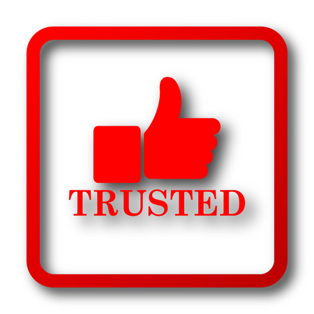 trust people: Trusted icon. Internet button on white background.