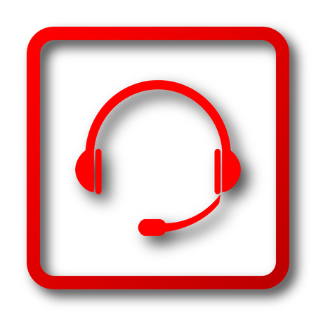 ear phones: Headphones icon. Internet button on white background. Stock Photo