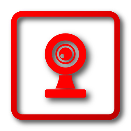 webcam: Webcam icon. Internet button on white background. Stock Photo