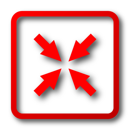 minimize: Exit full screen icon. Internet button on white background.
