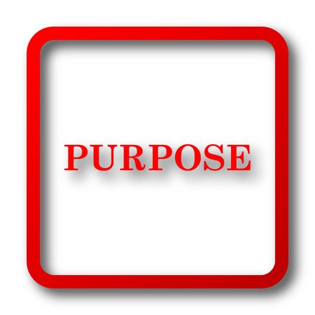 purpose: Purpose icon. Internet button on white background. Stock Photo