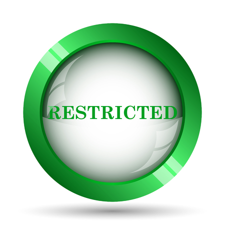 denied: Restricted icon. Internet button on white background. Stock Photo