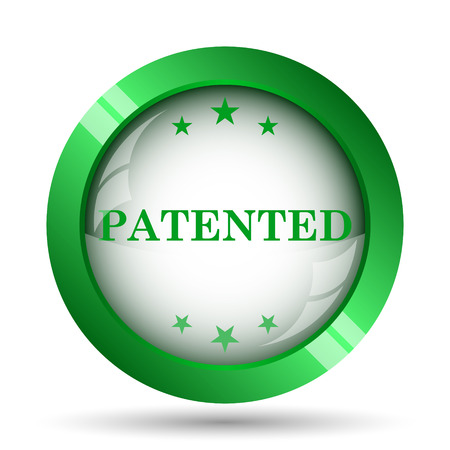 secured property: Patented icon. Internet button on white background.