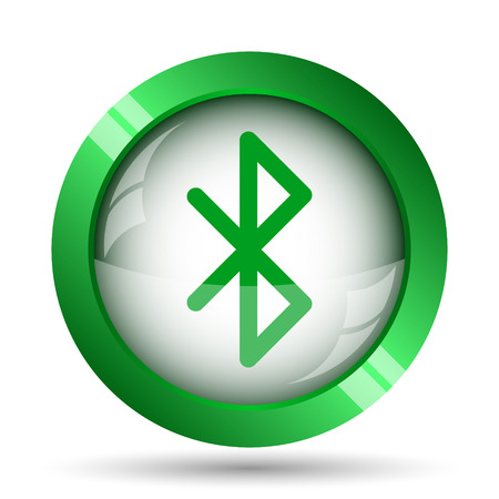 internet background: Bluetooth icon. Internet button on white background. Stock Photo