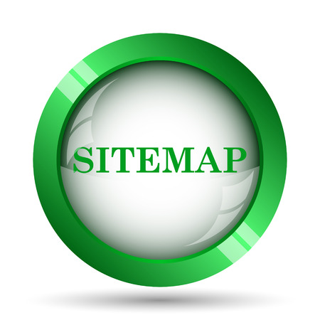 teaser: Sitemap icon. Internet button on white background. Stock Photo