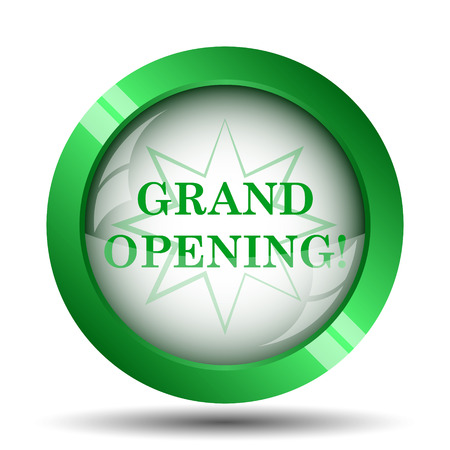 grand sale button: Grand opening icon. Internet button on white background.