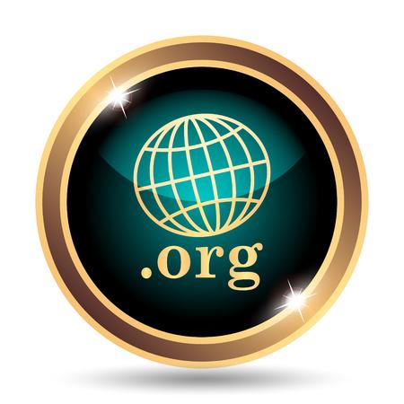 org: .org icon. Internet button on white background. Stock Photo