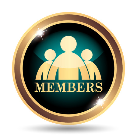 grant: Members icon. Internet button on white background. Stock Photo