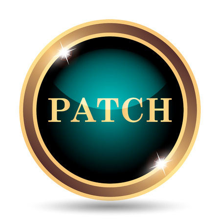 transmitting: Patch icon. Internet button on white background.