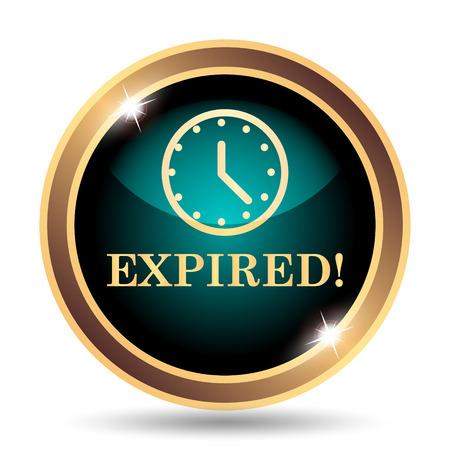 expiration: Expired icon. Internet button on white background. Stock Photo